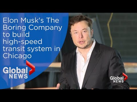 Elon Musk's company to build high-speed transit link between downtown Chicago and airport