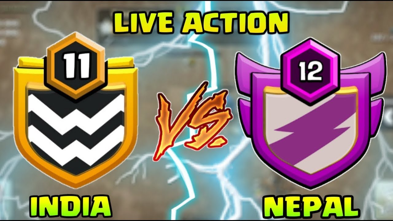 INDIA VS NEPAL  Live War Attacks  ! Clash of Clans