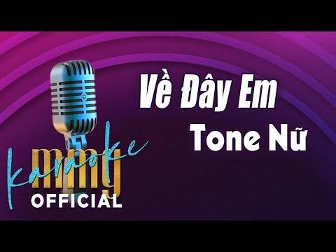 Về Đây Em (Karaoke Tone Nữ) | Hát với MMG Band