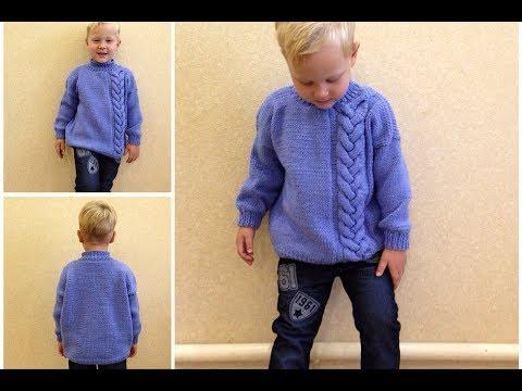 Пуловер для мальчика вязание спицами