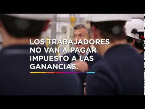 Trabajadores sin impuesto a las ganancias. Ese es mi compromiso | Mauricio Macri
