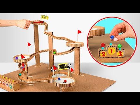 How to make Marble Run Machine From Cardboard
