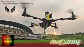 Long Range Multirotor FPV 5.7km on OFM Reptile 650 Quad