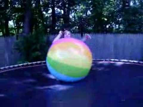 I get owned by HUGE  beach ball