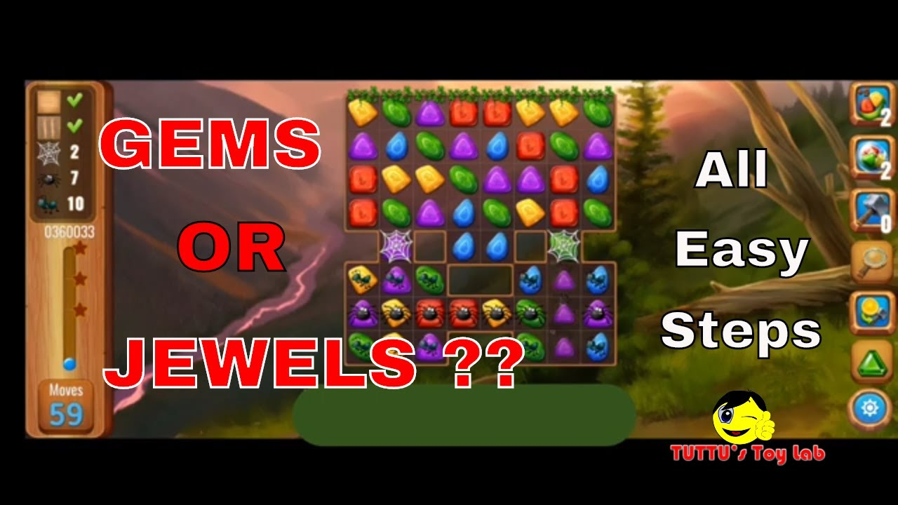 Gems Or Jewels Game play  level 36 All tricks Online Android Games