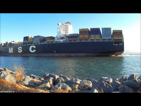 MSC SOLA Container Ship Oakland Mobius ActionCam