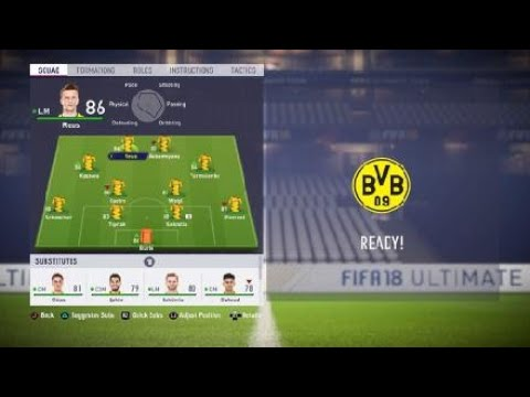 FIFA 18 Borussia Dortmund BVB review - Best formation, Best tactics and instructions