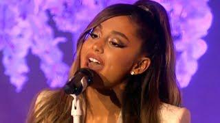 Ariana Grande Falls & Cries During Thank U, Next Performance | Hollywoodlife Video