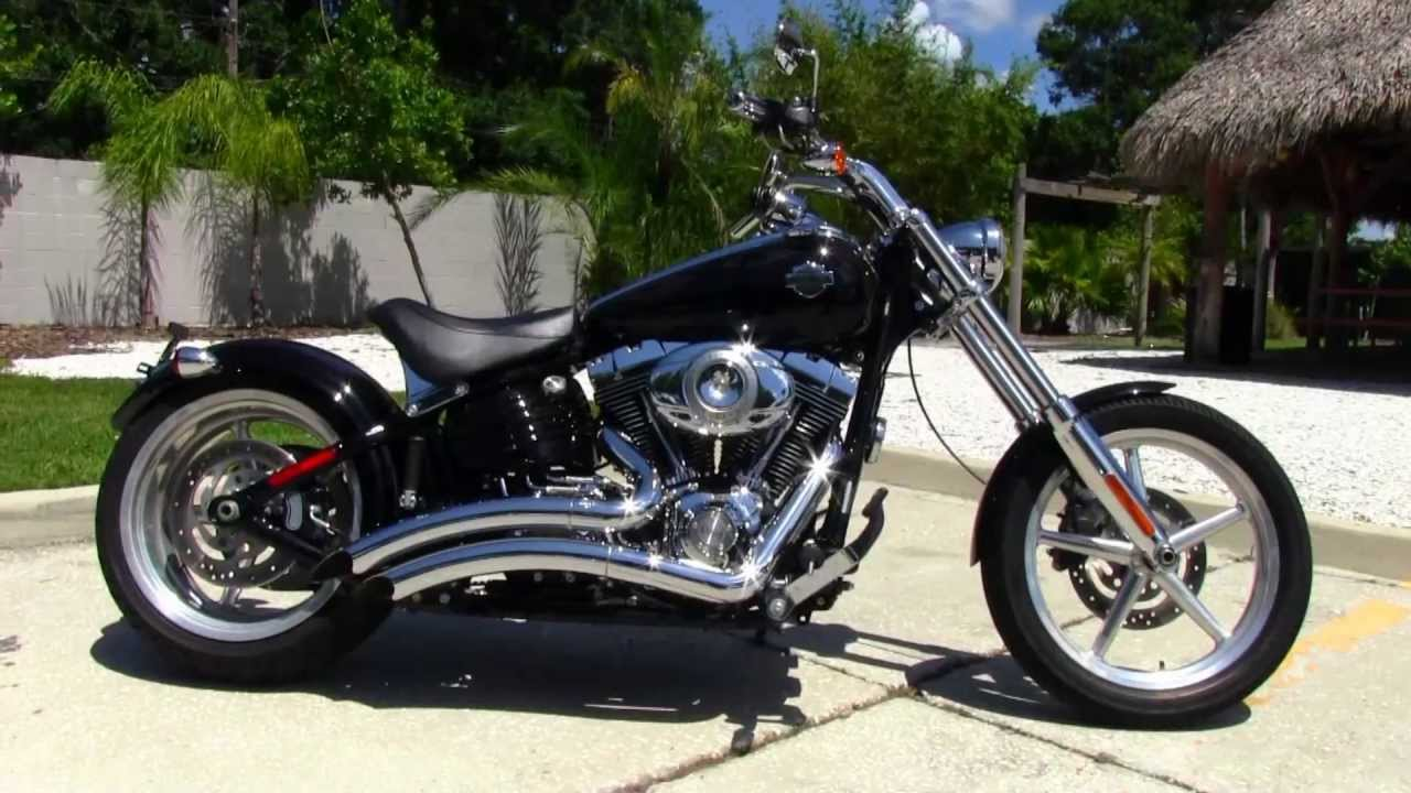 used 2009 harley davidson fxcwc softail rocker c motorcycle for sale youtube. Black Bedroom Furniture Sets. Home Design Ideas