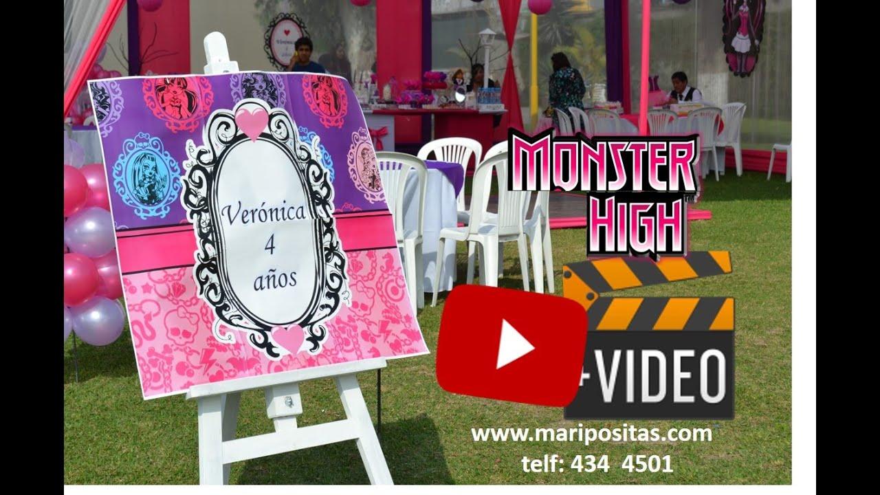 Decoracion de monster high para cumplea os youtube for Muebles de monster high