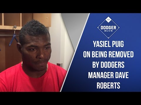 Yasiel Puig On Being Removed By Dodgers Manager Dave Roberts