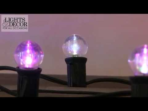 Color Changing G30 Globe Lights