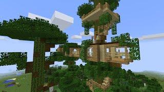 Домик на дереве в майнкрафт за 20 минут - MInecraft - Майнкрафт карта