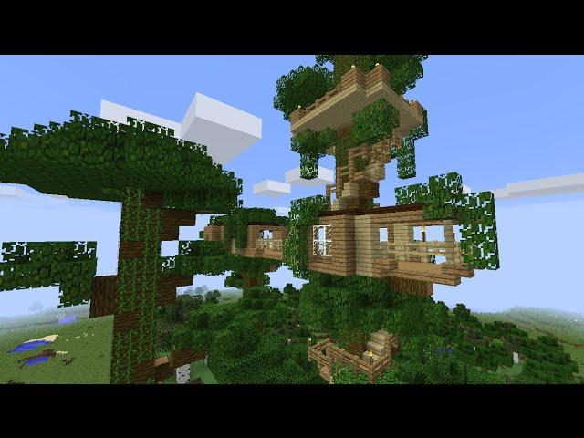 майнкрафт дом на дереве #11