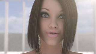 3D Girl Alyssa - Virtual 3D Avatar Facial Expression Animation Test