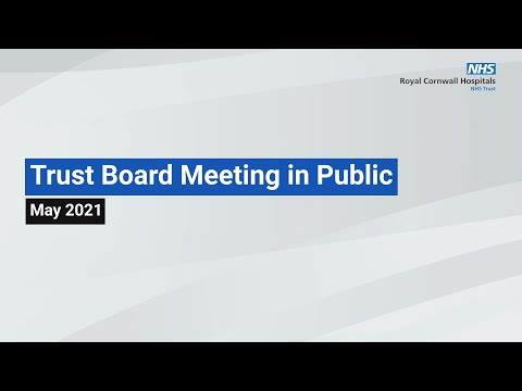 RCHT Board in Public Meeting - May 2021