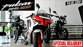 Bajaj Pulsar rs200  new model taking delivery and review