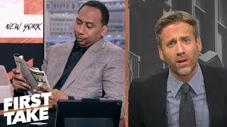 Stephen A. is fed up with Max's Tom Brady, Patriots slander | First Take | ESPN