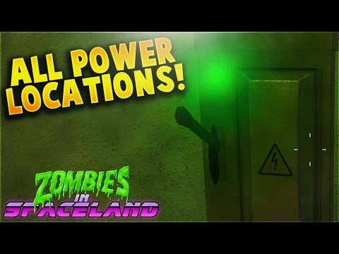 """Easy Power Tutorial and All Switch Locations! - """"Zombies in Spaceland"""" (IW Zombies)"""