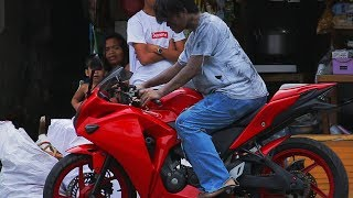 HOMELESS WITH A BIG BIKE PRANK! (taong grasa)