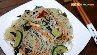 Японская кухня: Салат с харусаме (фунчозой) и овощами