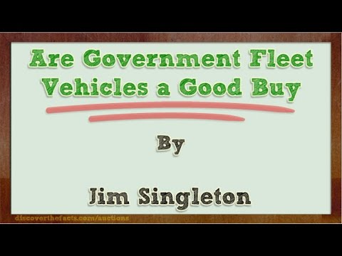 Are Government Fleet Vehicles a Good Buy