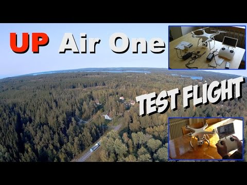 New UP Air One 4K Quadcopter first flight test and review
