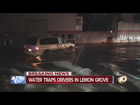 Water traps drivers in Lemon Grove