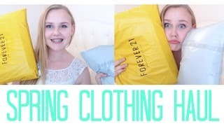 Spring/Summer Clothing Haul | Brandy Melville, Forever 21, Charlotte Russe, and more! Thumbnail