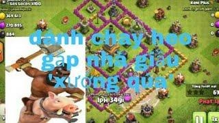 Clash of clans| đánh chay heo lv1 ngầu qúa ae oi...