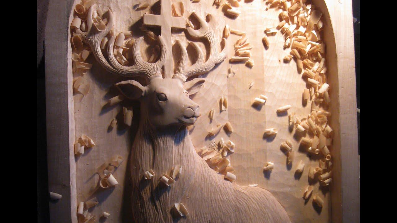 Relief wood carving workflow vyřezávaný reliéf jak na