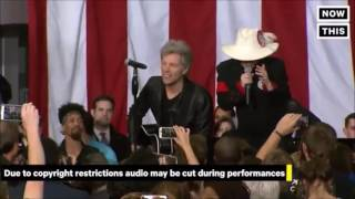 Livin On A Prayer - Bon Jovi ft. Lady Gaga @Hillary Clinton Rally