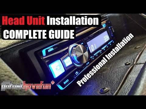 Car STEREO Installation Step By Step (Head Unit Install) | AnthonyJ350