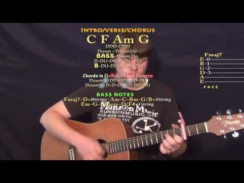 Play That Song (Train) Guitar Lesson Chord Chart - Capo 3rd