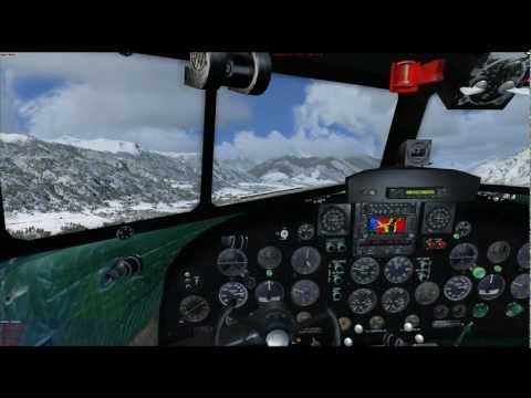 Uiver DC2 Multi Crew Experience! with Garmin XP 530 Tutorial Approaching Innsbruck