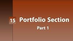 15 - ( Design Template ) Portfolio Section   Part 1