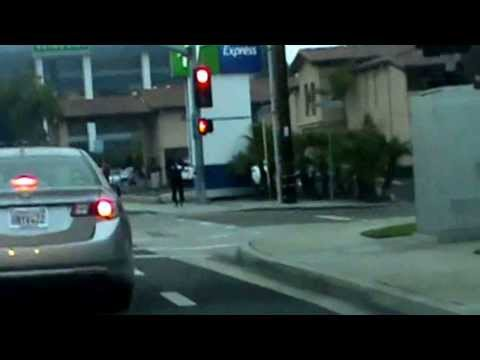 Gang Stalking Target Passes Three Intersections - RED at Each - 1/29/2014
