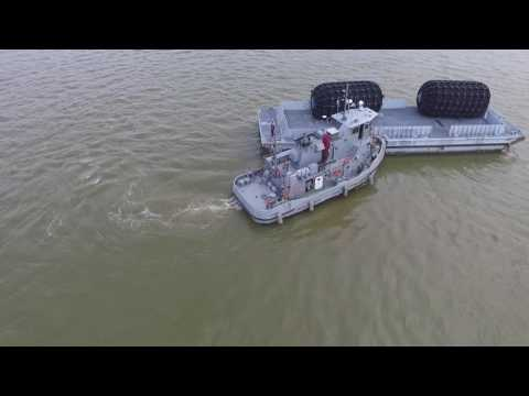 US Army Watercraft: Small Tug ST-913 Restore Hope Stern Tow Reserve Fleet Barge