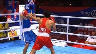 Round of 16 (57kg) BISHT Kavinder Singh (IND) vs KHATAEV Arslan (FIN) /AIBA World 2019