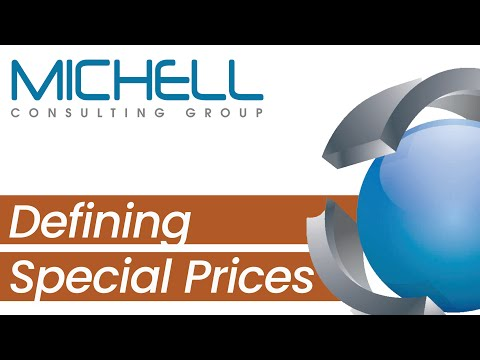 Defining Special Prices in SAP Business One