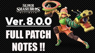 Update Version 8.0.0 Full Patch Notes For Super Smash Bros. Ultimate