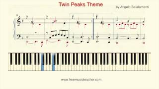 "How To Play Piano: Twin Peaks ""Twin Peaks Theme"" Piano Tutorial by Ramin Yousefi"