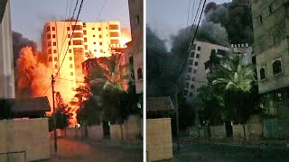 video: Watch the moment Gaza tower block collapses after Israeli airstrike