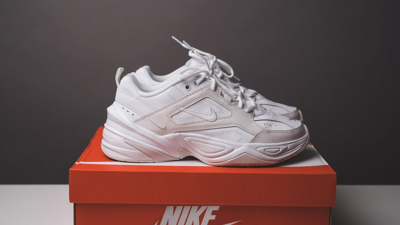 buy online 63b96 5afb0 Nike M2K Tekno in Cream White - Unboxing Review On-Feet Look