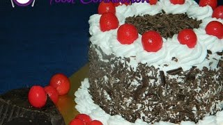 Eggless Black Forest Cake  Cake In Cooker  Cake For Beginners  Chocolate Cake - Food Connection