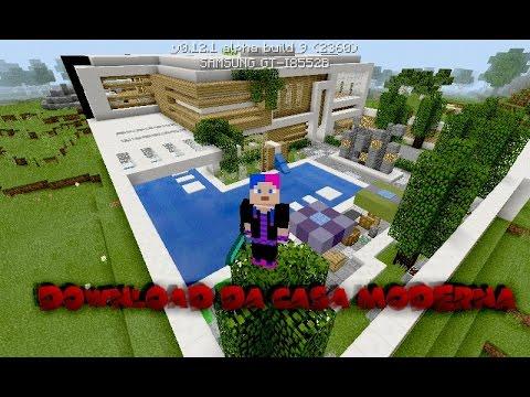 Minecraft pe da casa moderna mans o for Casas modernas minecraft 0 10 0
