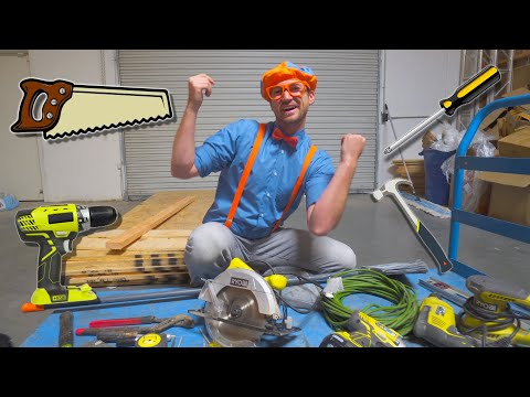 Blippi Tools For Kids   Tools Song And Clean Up Song For Children