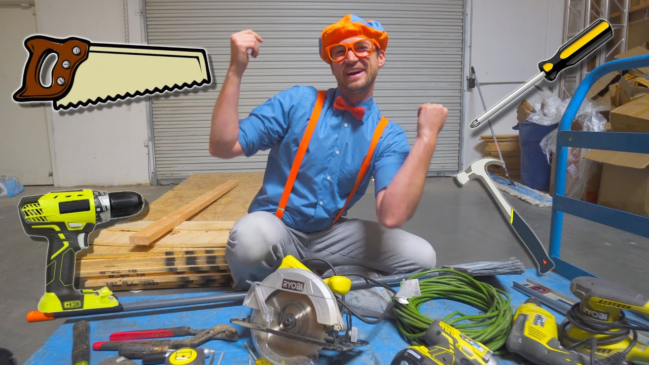Blippi Tools for Kids | Tools Song and Clean Up Song for Children