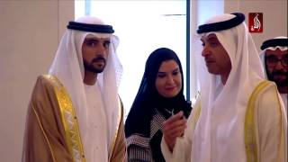 محمد بن راشد و محمد بن زايد يستقبلون خادم الحرمين الشريفين في مطار الرئاسة