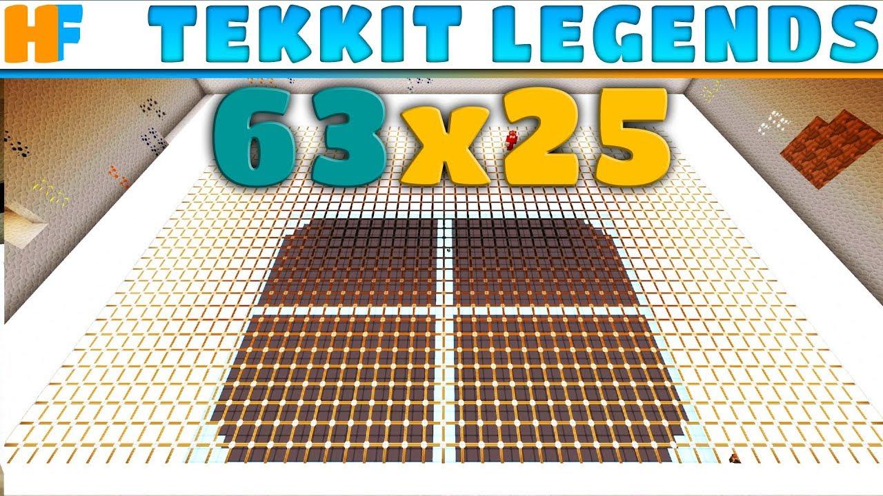 Let's Build an Underground Base   Tekkit Legends 63x25